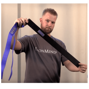 Black & Fourth Lifting Straps - Added extra width & length