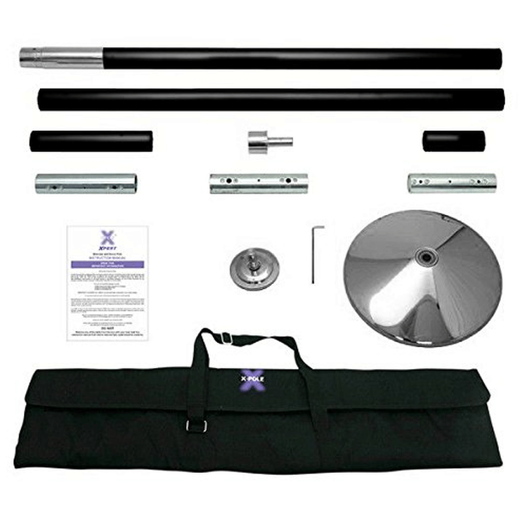 X-Pole 45mm Black Powder Coated X-Pert Full Kit