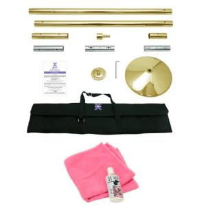 X-Pole 45mm Brass X-Pert Dance Pole (Spin/Static)