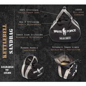 Adjustable Sand Kettlebells by Brute Force - Features