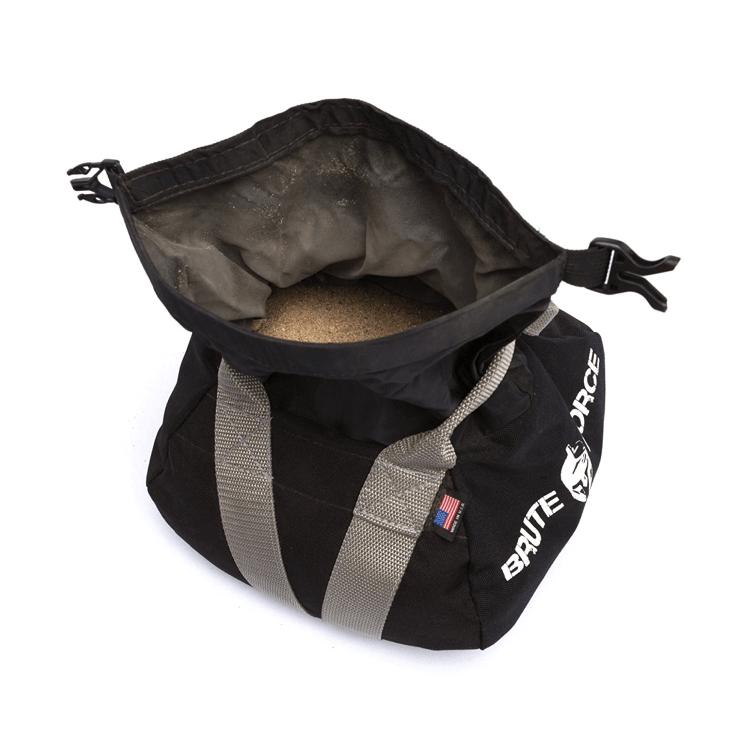 Adjustable Sand Kettlebells by Brute Force - Inner bag opened