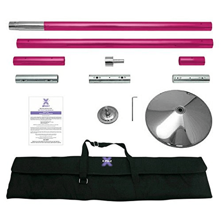 X-Pole 45mm Pink Powder Coated X-Pert Full Kit