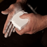 Gym Chalk – applied to hands