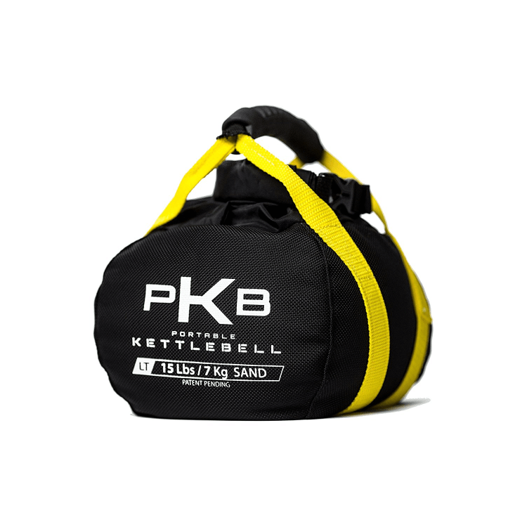 Adjustable Kettlebell, yellow, 15lbs, by Pkb