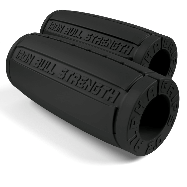 Alpha Grips version 2.0, black - Thick bar adaptors
