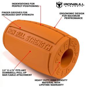 Alpha Grips version 3.0, orange - Thick bar adaptors overview