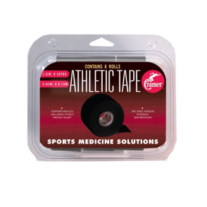 Cramer Athletic tape, Black, 6x scroll pack