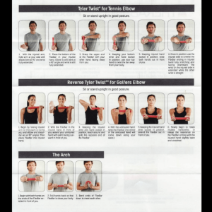 Flexbar Resistance Bar instructional exercise guide by Thera-Band