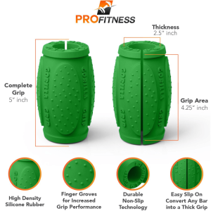 Gorilla Grips Version 2.0, green - Thick bar adaptors overview
