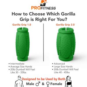 Gorilla Grips 1.0 vs 2.0 , green - Thick bar adaptors