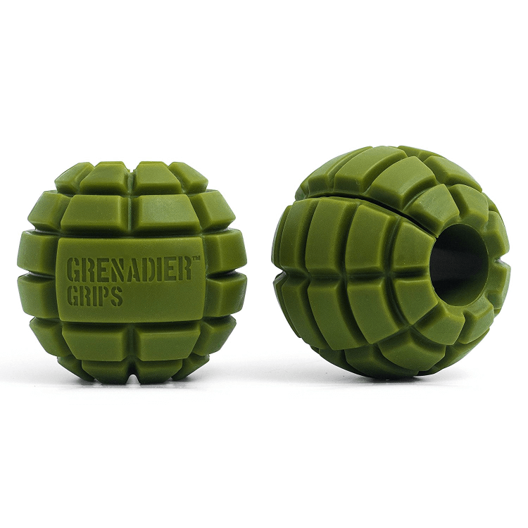 Grenadier Grips, green, short - Thick bar adaptors
