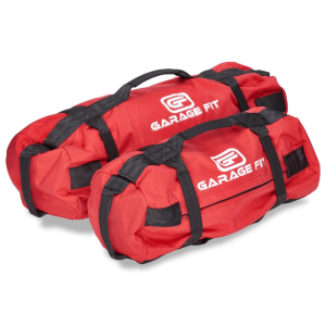 Heavy Duty Weighted Sandbags, red, by Garage Fit