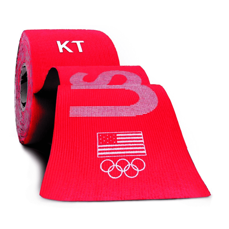 KT Tape 20x pre-cut 10-inch strips, USA edition, red
