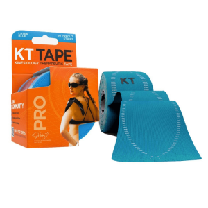 KT Tape pro synthetic, 20 precut 10-inch strips, laser-blue