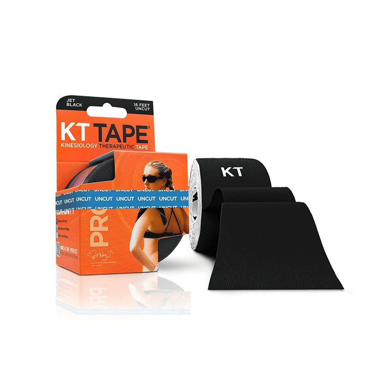 KT Tape Pro Synthetic, black 16 feet uncut roll