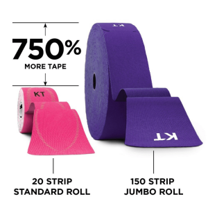 KT Tapes - 20 strip standard roll VS 150 strip jumbo roll