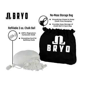 Refillable chalk ball & No-Mess storage bag by Bryo