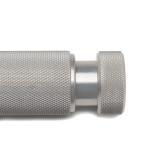 Sidewinder Revolution, silver, knurled – Adjustable wrist-roller resistance dial