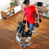 Bowflex SelecTech 552 Adjustable Dumbbells with weightstrand