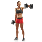 Front raises with SelectTech 560 Adjustable Dumbbells