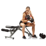 Seated biceps curl with SelectTech 1090 Adjustable Dumbbell