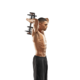 Triceps exercise with SelectTech 1090 Adjustable Dumbbell