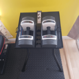 Powerblock Sport 24 dumbbells on small PowerBlock compact weight stand