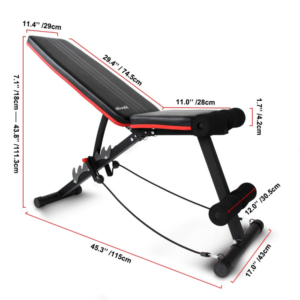 ATIVAFIT adjustable and foldable weight bench