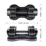 ATIVAFIT adjustable dumbbells – Dimensions