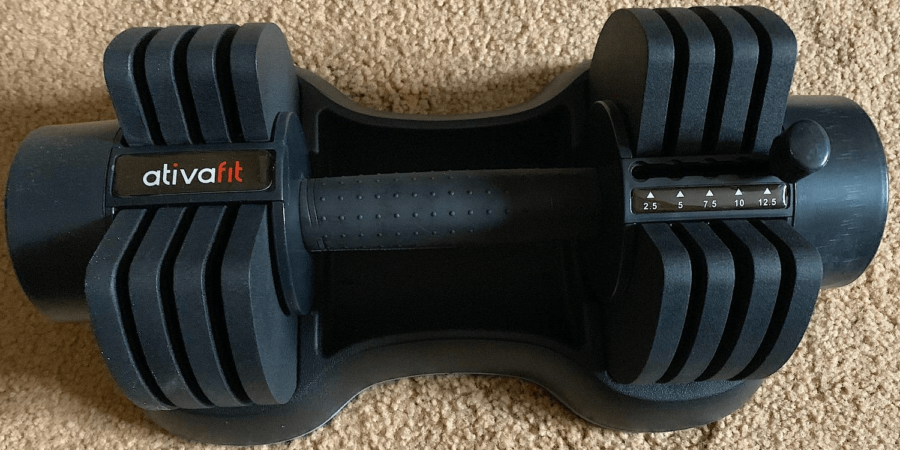 ATIVAFIT adjustable glide-tech dumbbell