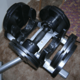 Core Fitness adjustable dumbbell unracked