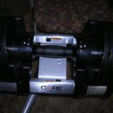 Core Fitness adjustable dumbbells – Warning label
