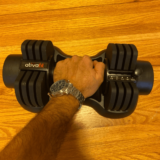 Gripping ATIVAFIT adjustable dumbbell