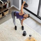 Kettlebell swing with BowFlex Selectech Adjustable Kettlebell
